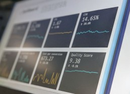 Dashboard with metrics